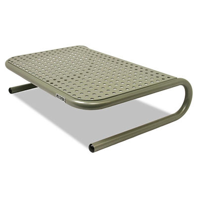 "Allsop - Metal Art Jr. Monitor Stand, 11"" x 14 1/2"" x 4 1/2"" -  Pewter"