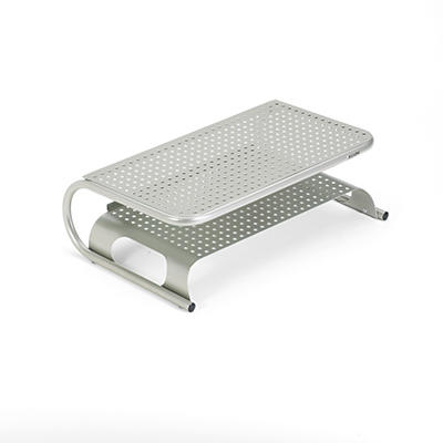 "Allsop - Metal Desktop Printer/Monitor Stand, 18 1/2"" x 12"" x 5 3/4"" -  Pewter"