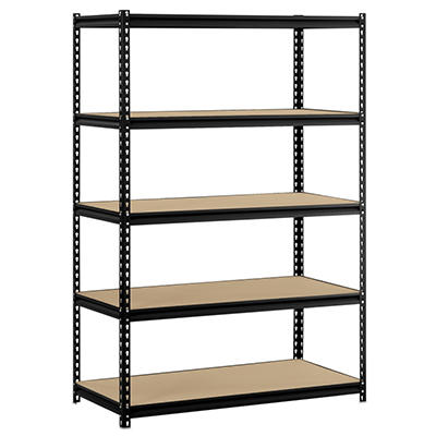 Edsal 5-Shelf Heavy Duty Steel Shelving Black