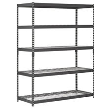 Muscle Rack 5-Shelf Heavy Duty Steel Shelving Black