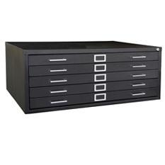 Sandusky  5-Drawer Flat File Cabinet, Legal/Letter (Various Colors)