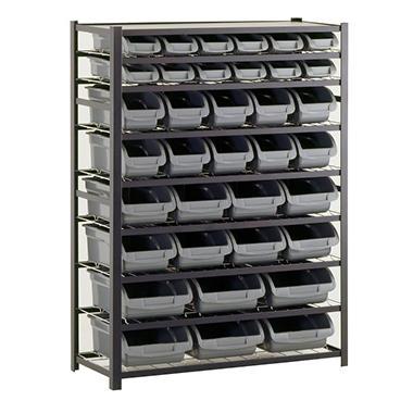 Sandusky 36 Bin Black Industrial Storage Rack