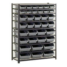 Sandusky 36 Bin Black Industrial Storage Rack