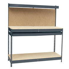 "Edsal Heavy Duty Workbench with Single-Drawer - 48""W x 24""D x 60""H"