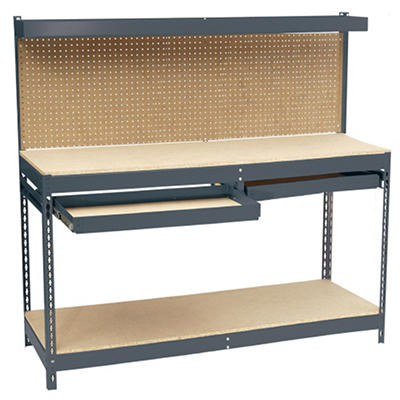 "Edsal Heavy Duty Workbench with Double Drawer - 72""W x 24""D x 60""H"