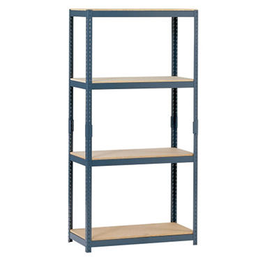 "Edsal 4-Shelf Steel Shelving - 60""H x 30""W x 15""D"