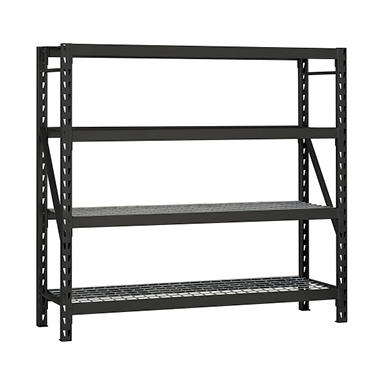 edsal heavy duty 4 shelf steel shelving sam 39 s club. Black Bedroom Furniture Sets. Home Design Ideas
