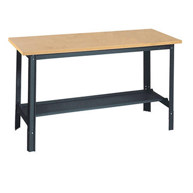 Edsal Commercial Adjustable-H Workbench with Wood Top - 60