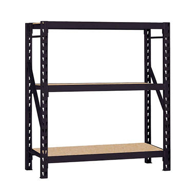 Edsal Heavy-Duty 3-Shelf Steel Welded Rack