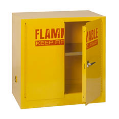 "EdsalSteel Compact Flammable Safety Cabinet - 35""x 22""x 35"""