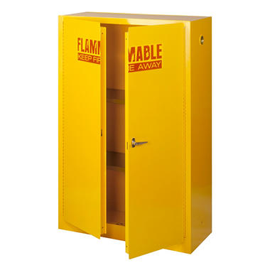 "Sandusky Yellow Flammable Safety Steel Cabinet - 43""W x 18""D x 65""H"