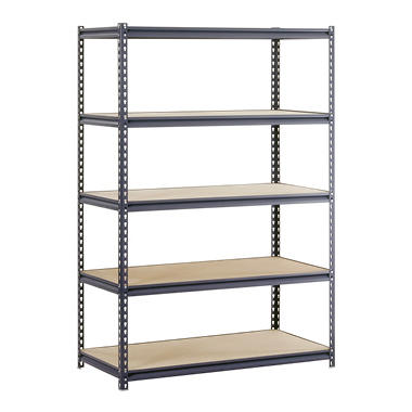 "Edsal Heavy Duty 16-gauge Boltless Steel Shelving - 48""W x 18""D x 72""H"