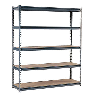 "Edsal Heavy Duty 16-gauge Boltless Steel Shelving - 72""W x 18""D x 72""H"