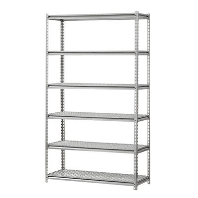 Edsal 6-Shelf Heavy Duty Steel Shelving Silver