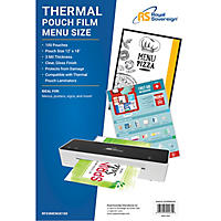 Royal Sovereign Menu Laminating Pouches - 100 pk.