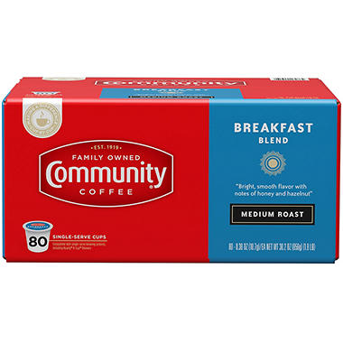 Community Coffee  Breakfast Blend, Single Serve (80 ct.)