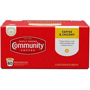 Community Coffee, Coffee & Chicory (80 K-Cups)