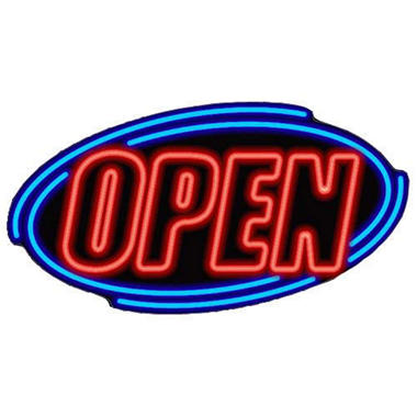 Fallon Super Bright LED OPEN Sign