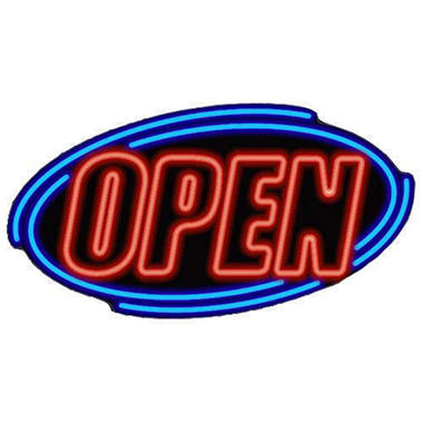 Double Stroke Open Sign - Super Bright LED