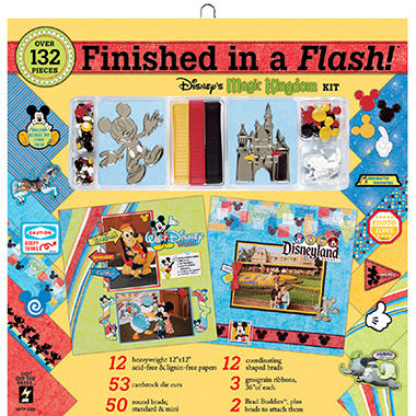 Finished In A Flash Page Kit-12x12-Disney Magic Ki