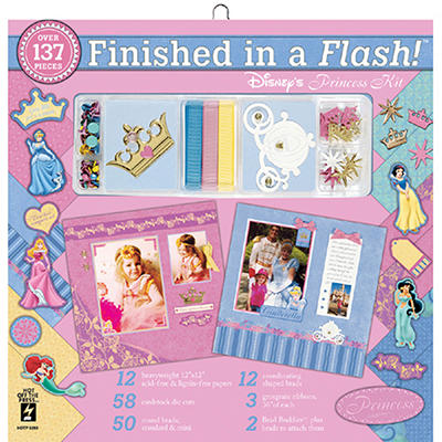 Finished In A Flash Page Kit-12x12-Disney Princess