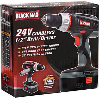 Black Max 24V Cordless 1/2 inch Drill/Driver