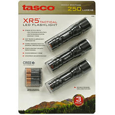 Tasco 250 Lumen 3 Piece Flashlight Set