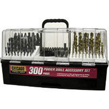 Chicago® Power Drill Accessory Set - 300 pc.