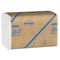 Kimberly-Clark Professional - SCOTT Multifold Paper Towels, 9 1/5 x 9 2/5, White, 250/Pack -  16 Packs/Carton