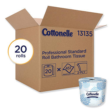 Cottonelle Two Ply Bathroom Tissue 451 Sheets Roll 20