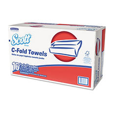 KCCberly-Clark Professional* - Folded Paper Towels, C-Fold, 13 1/5 x 10 1/10, White, 150/Pack -  16 Packs/Carton