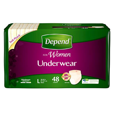 Depend Underwear for Women - Large - 48 ct.