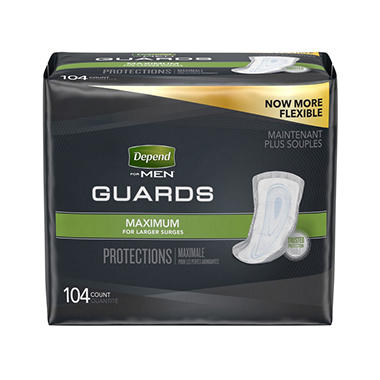 Depend Guards for Men - One Size Fits All - 104 ct.