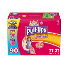 Huggies Pull-Ups Training Pants for Girls, Size 2T-3T (18-34 lbs.), 90 ct. - Tuan Test