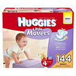 Huggies Little Movers Diapers, Size 4 (22-37 lbs.), 144 ct.