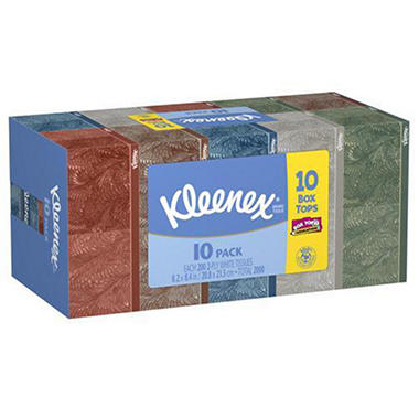 Kleenex® Facial Tissue, White, 10 boxes