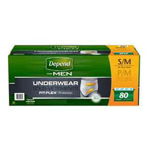 Depend for Men Underwear, Maximum Absorbency, Small/Medium (80 ct.)