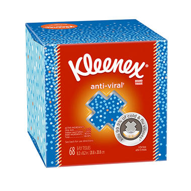 Kleenex Anti-Viral Facial Tissue - 1 box - 68 ct.