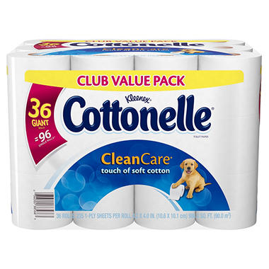 Cottonelle Clean Care Bath Tissue - 36 pk. - 230 sheets ea.