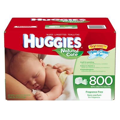 Huggies Natural Care Baby Wipes, 800 ct.