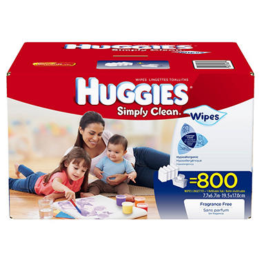 Huggies Simply Clean Baby Wipes - 800 ct.