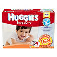 Huggies Snug & Dry Diapers, Step 4 (22-37 lbs.), 168 ct.