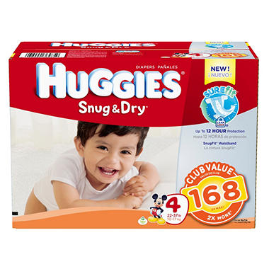 Huggies Snug & Dry Diapers - Size 5 (27+ lbs.) - 148 ct.