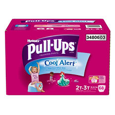 Huggies Cool Alert Pull-Ups Training Pants for Girls (Choose Your Size)