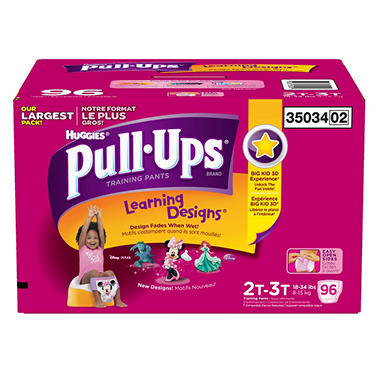 Huggies Pull-Ups Training Pants Girls (Choose Your Size)