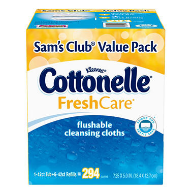 Cottonelle Fresh Care Flushable Moist Wipes - 294 ct.