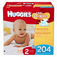 Huggies Little Snugglers Diapers Economy Pack, Size 2 (12-18 lbs.), 204 ct.