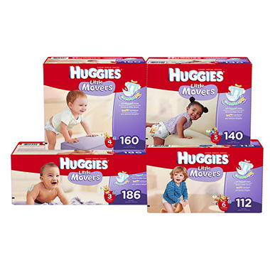 Huggies Little Movers Diapers Economy Pack (Choose Your Size)