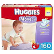 Huggies Little Movers Diapers Economy Pack, Size 4 (22-37 lbs.), 160 ct.