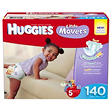 Huggies Little Movers Diapers Economy Pack, Size 5 (27+ lbs.), 140 ct.